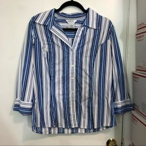George Stretch Striped Button Down